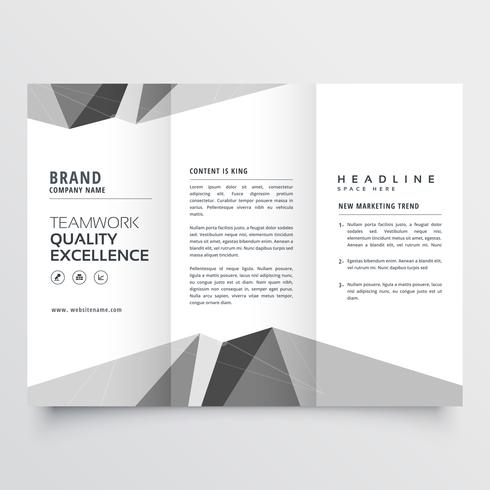 minimal gray trifold brochure design template