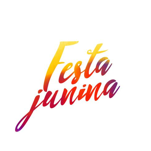 festa junina letterina with colorful effect