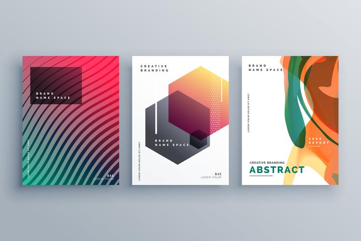 creative abstract minimal brochure template or cover page poster