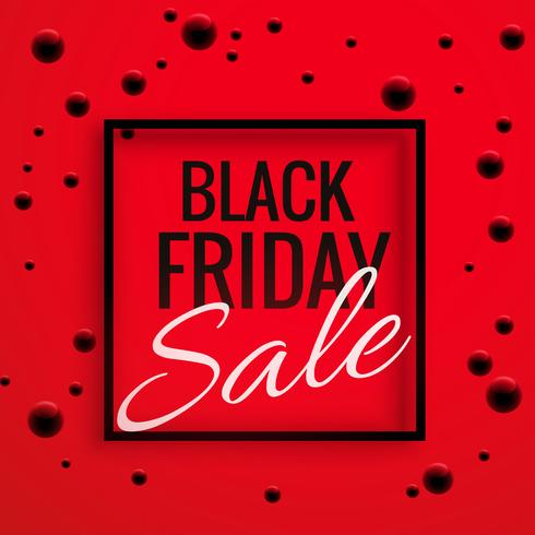 black friday sale banner poster with red background and dots