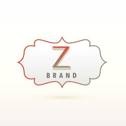 concept de design de lettre Z logo