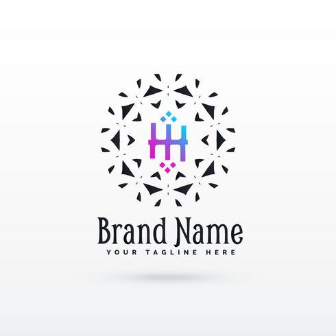 letter H logo concept design template