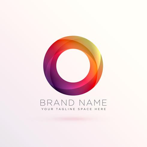colroful abstract circle logo design template
