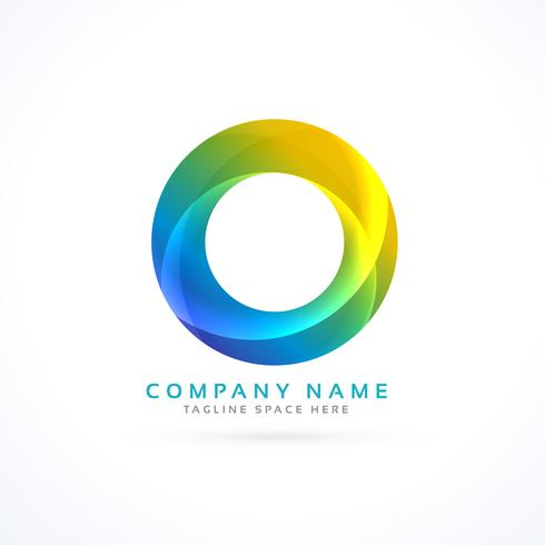 abstract colorful circle logo