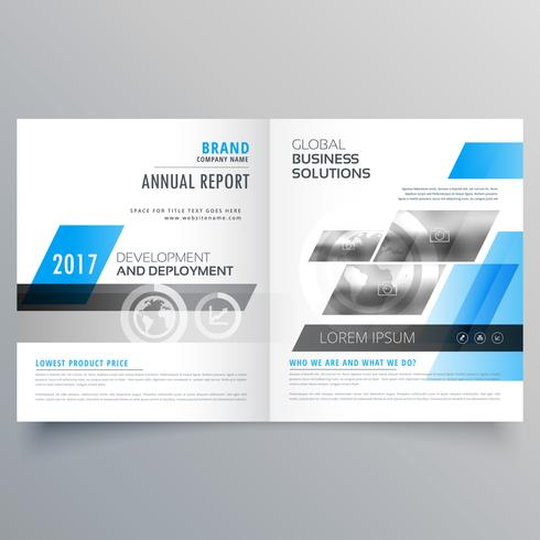 modern company brochure bifold template layout for your business