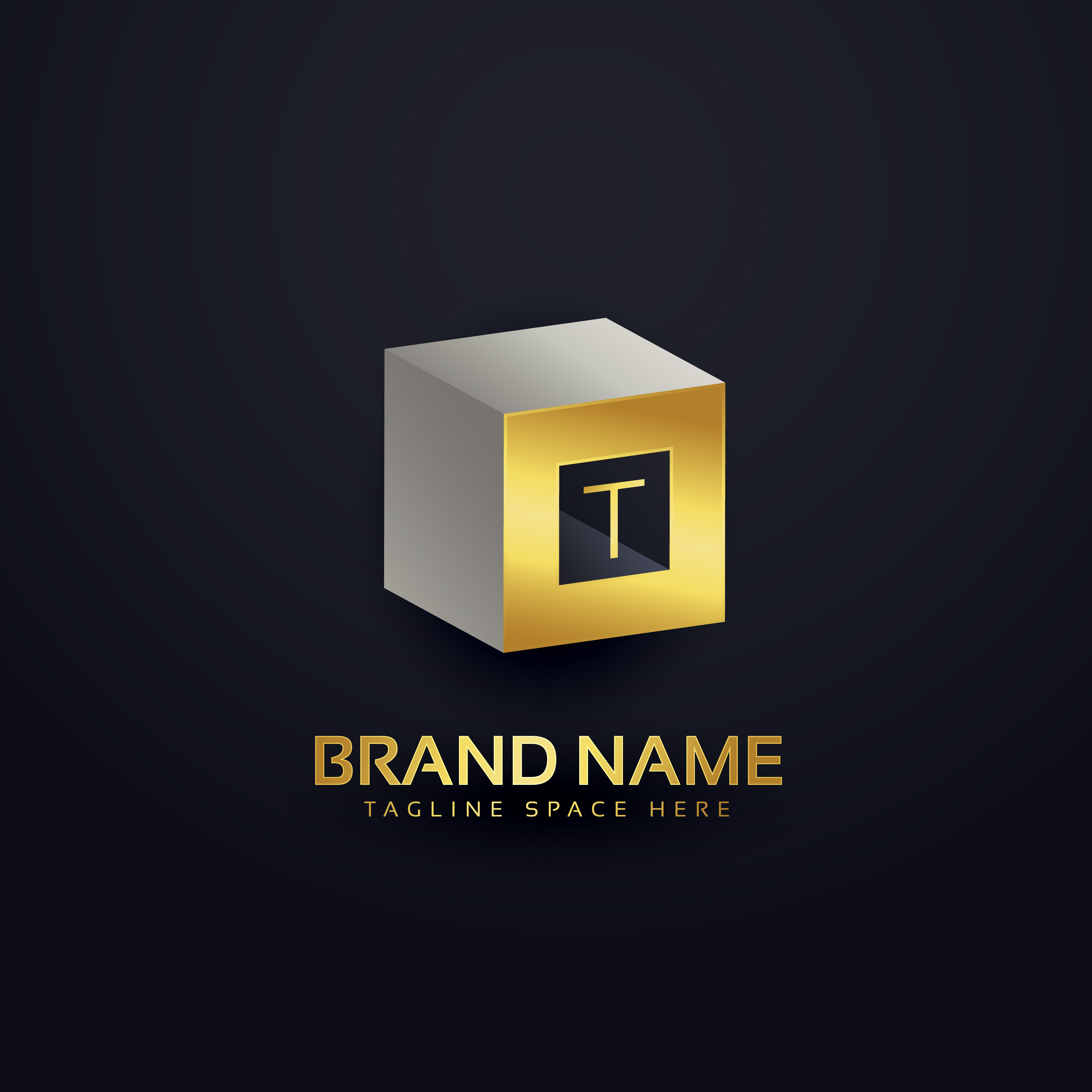 3d Letter T Logo Design Template