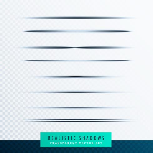 paper shadows collection vector background