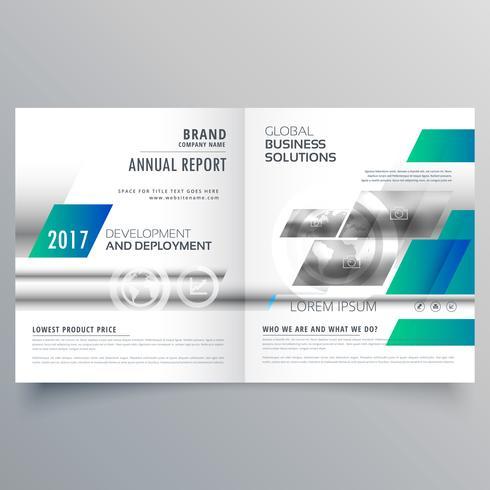 moderne zakelijke tweevoudige brochure ontwerpsjabloon