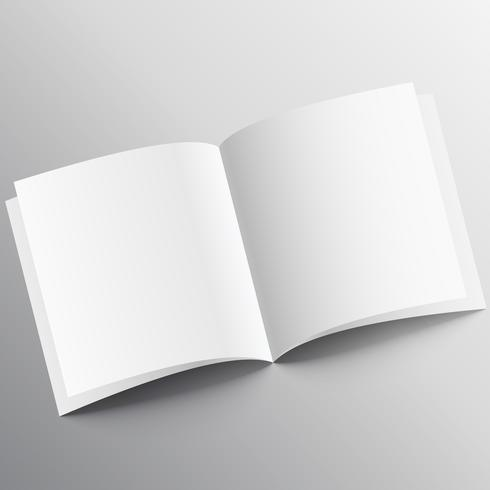open book mockup design template
