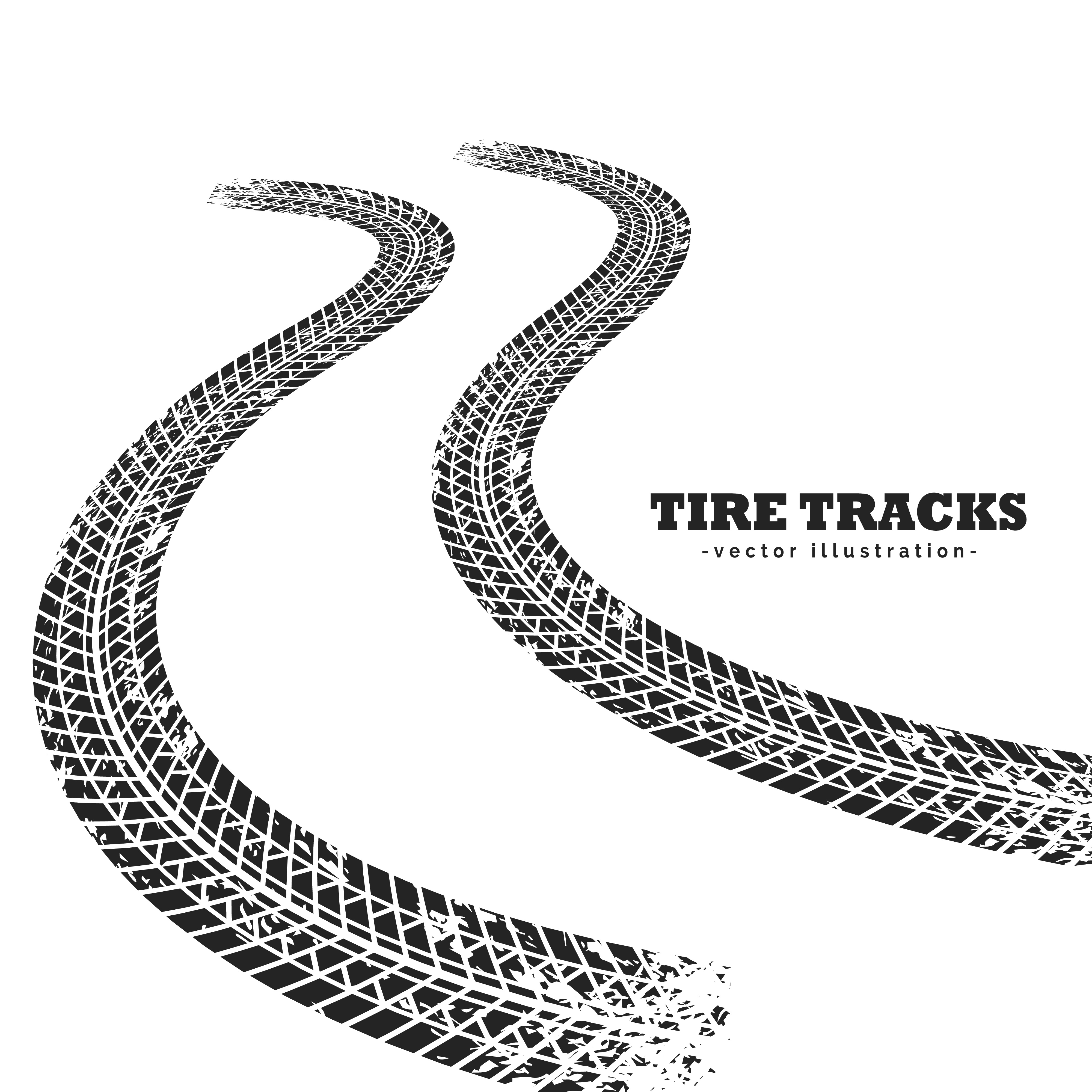 road tire tracks on white background in perspective - Download Free Vector Art, Stock Graphics ...