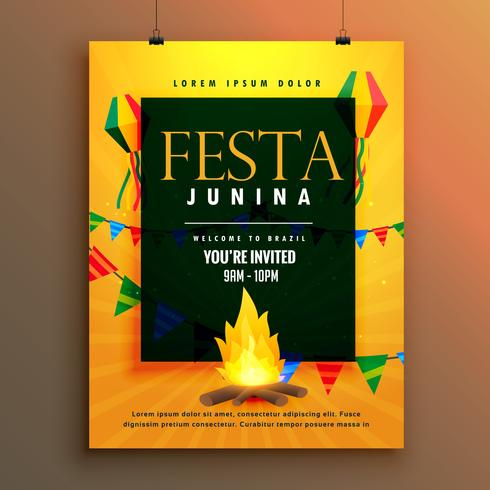festa junina poster design for brazilian holiday
