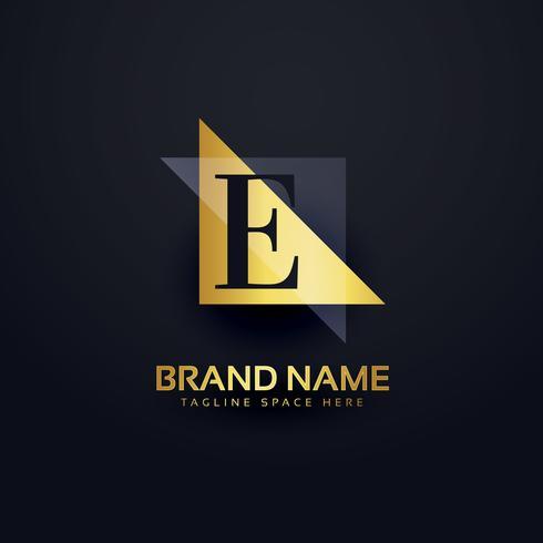 Buchstabe E Premium-Logo-Design im modernen Stil