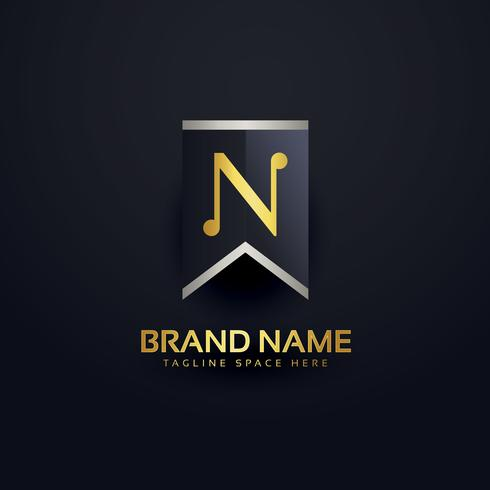 create letter N logo design template