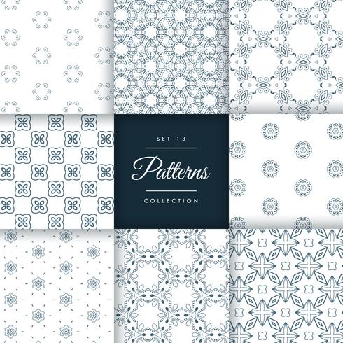 vintage style line pattern vector design illustration set