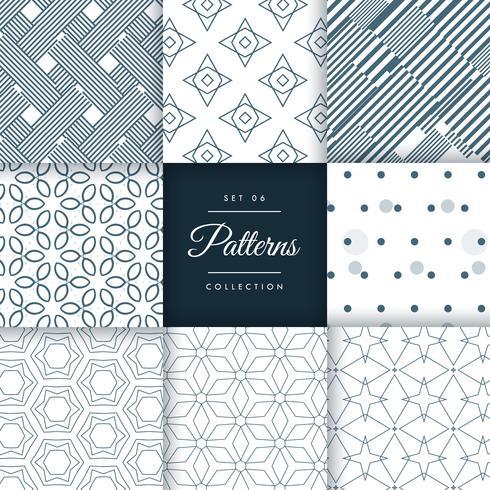 minimalistische Stilmuster in verschiedenen Formen