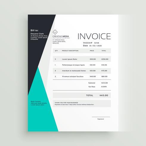 elegant business invoice template creative design