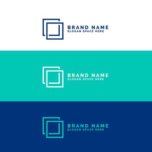 Fondo de concepto de logotipo cuadrado mínimo