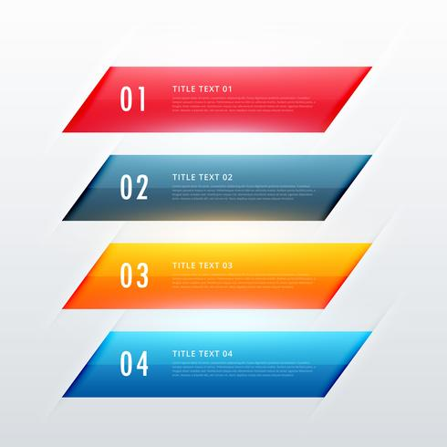 four steps colorful infographic banner design