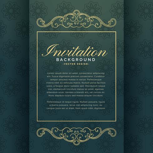 design de modelo de convite premium com decoração floral