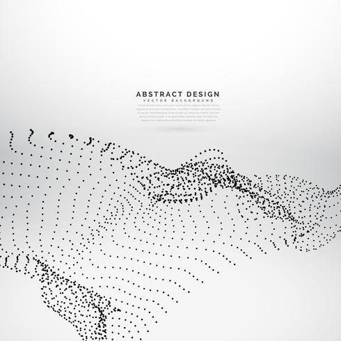 abstrakte Partikelmasche auf weißem Hintergrund