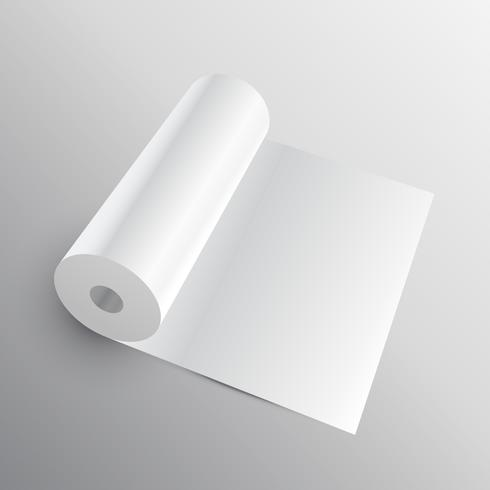 3d paper roll or fabric mockup
