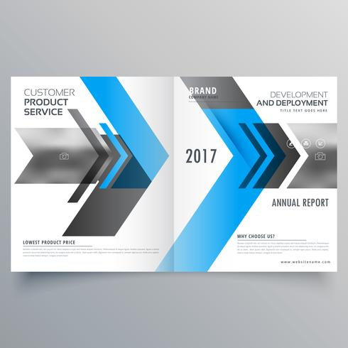 modern business brochure template design in bifold style