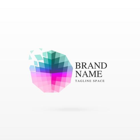 abstract logo conceptontwerp met florerende deeltjes