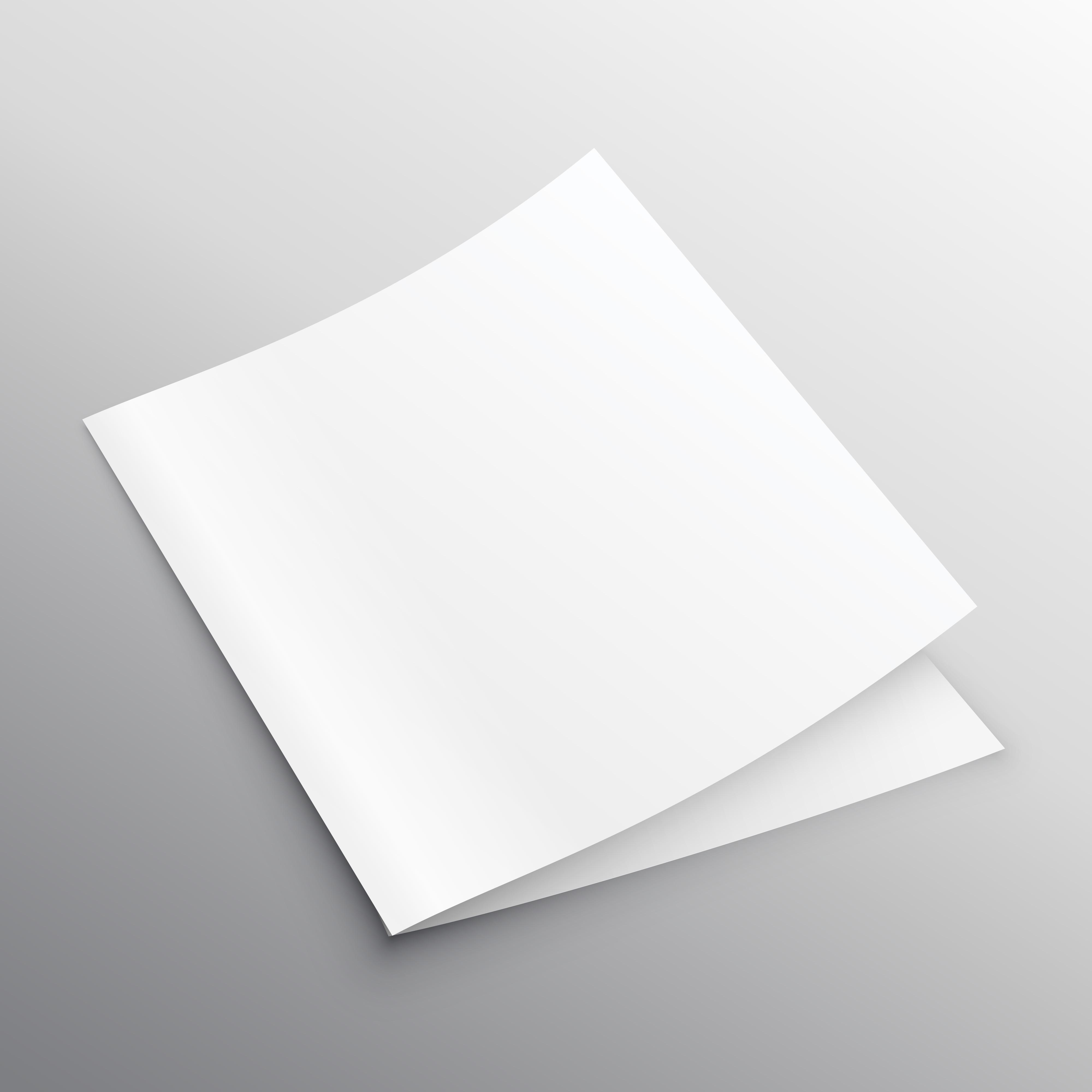 visitors book template free download - blank mockup bi fold or book template vector design