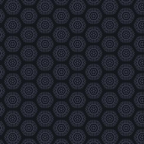 dark background with hexagonal patterns