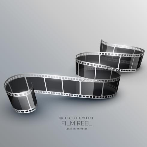 stylish 3d filmstrip background