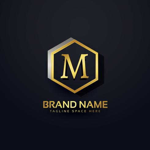 design premium do logotipo da letra M