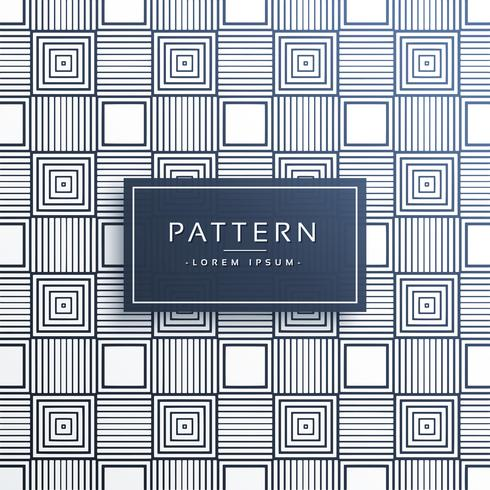 stylish line pattern in squares background