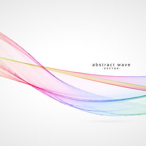 stylish vector smooth wave background