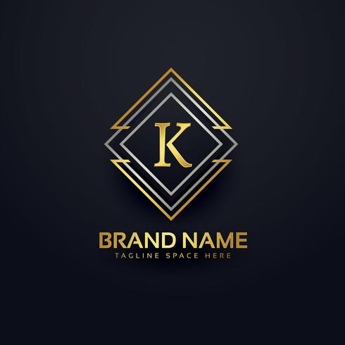 luxury line logo for letter K