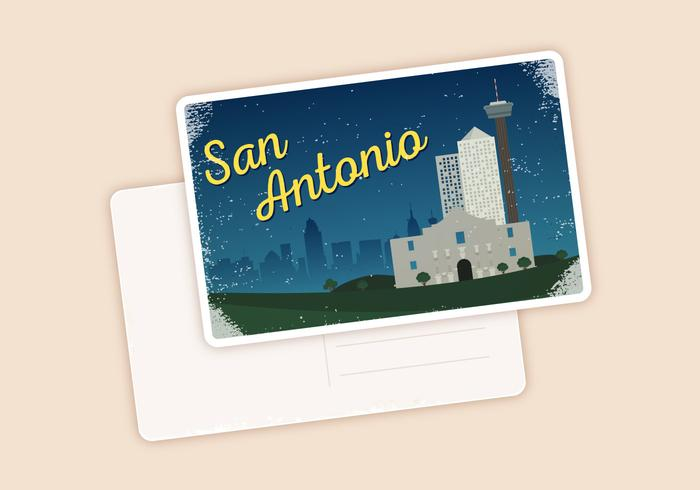 San Antonio vykort Ilustration