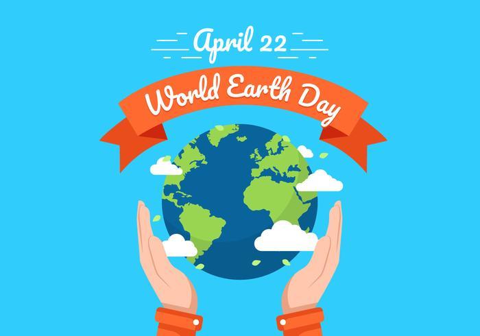Tag der Erde Hintergrund Illustration