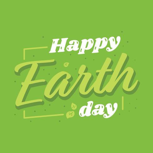 Glücklicher Tag der Erde