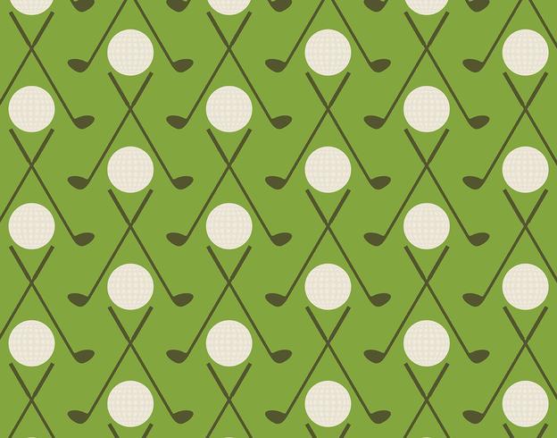 Padrão de golfe vintage