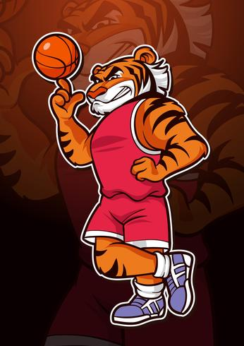 Tiger Basketball Mascot