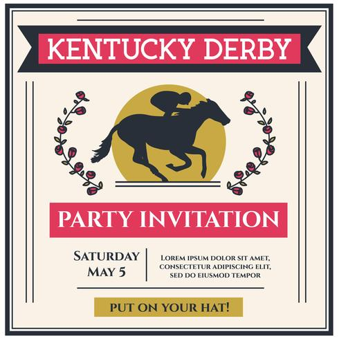 Kentucky Derby Party Einladung Vektor