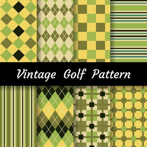Conjunto de patrón de golf