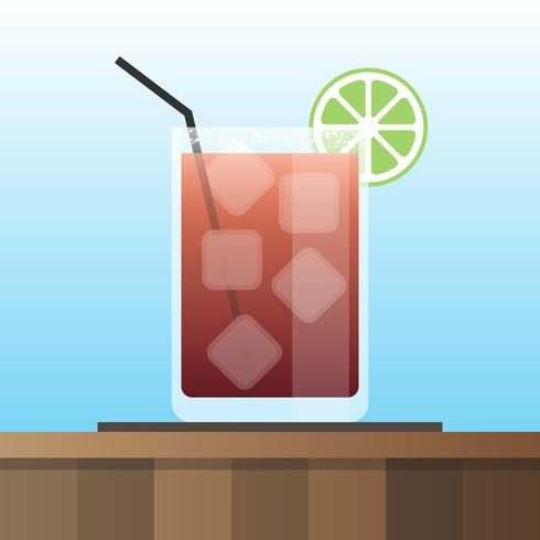 Michelada Cocktails Vector Illustration Set In Flat Design Style
