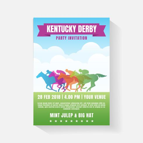 Horse Racing Party Invitation Template vector