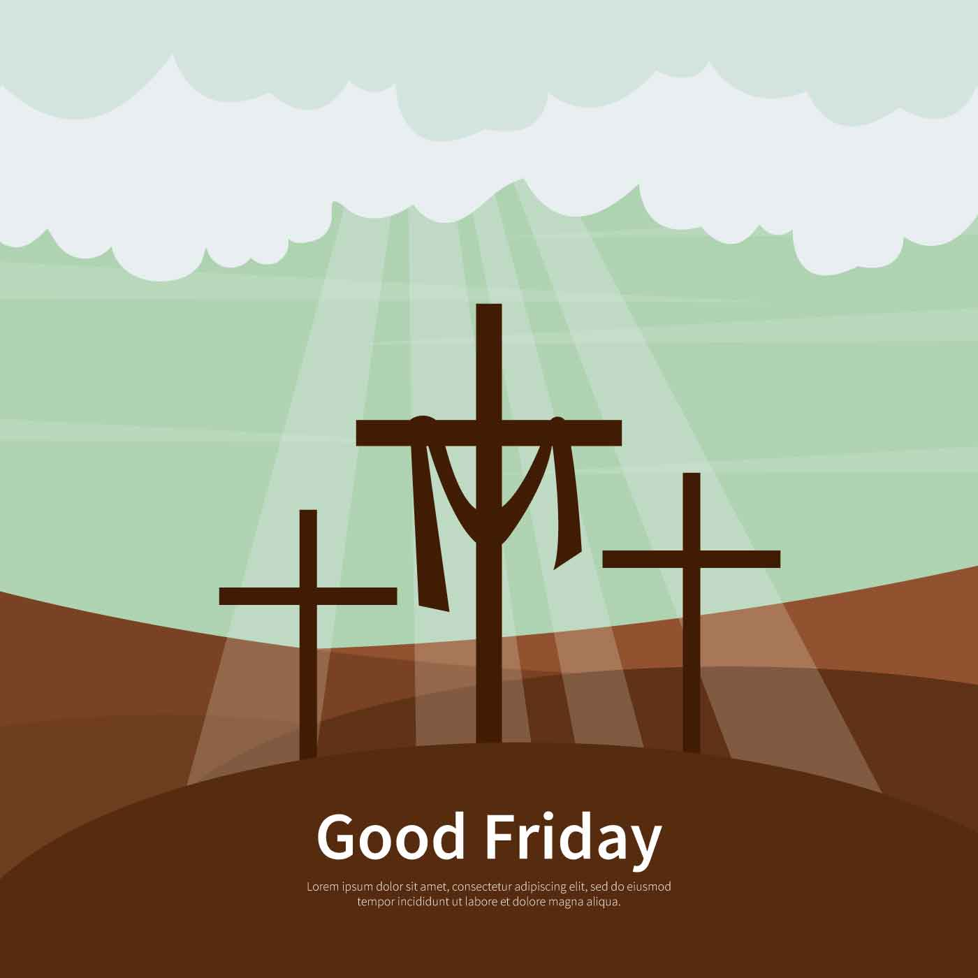 Good Friday Background Illustration - Download Free Vector ...