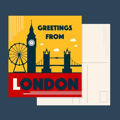 Vecteur de carte postale de Londres