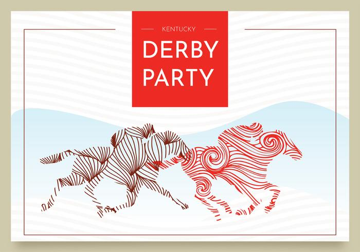 Kentucky derby briefkaart vector ontwerp
