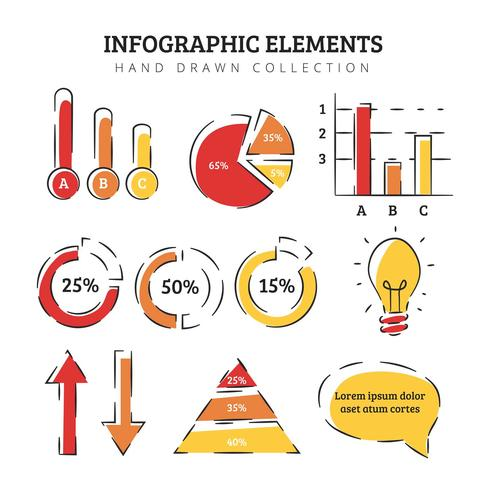 Infographics elementen collectie