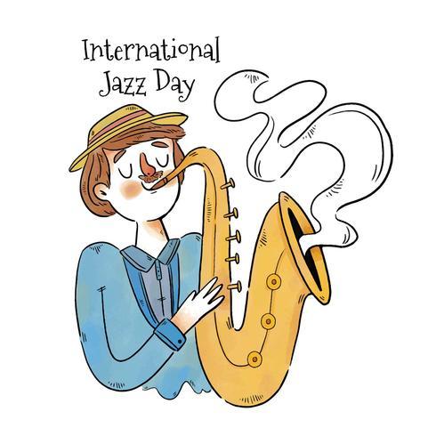 Mignon homme jouant au saxophone