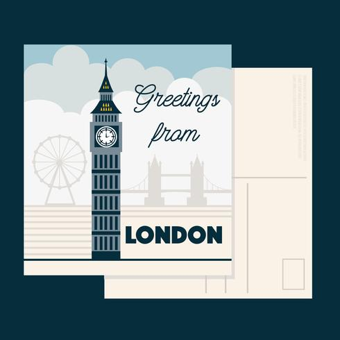 London Postkarte Vektor
