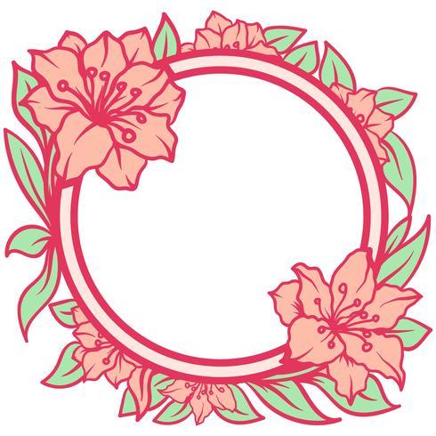 Azalee Blumen Rahmen